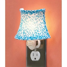 Blue Leopard Print Night Light